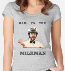 THE MILKMAN - JAKE AND AMIR Women's Fitted Scoop T-Shirt