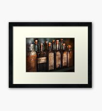 Pharmacy - Syrup Selection  Framed Print