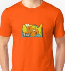 Texas Map Vintage Travel Decal T-Shirt