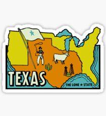 Pegatina Mapa de Texas Vintage Travel Decal