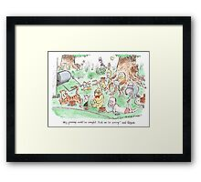 Test Match Special special Framed Print