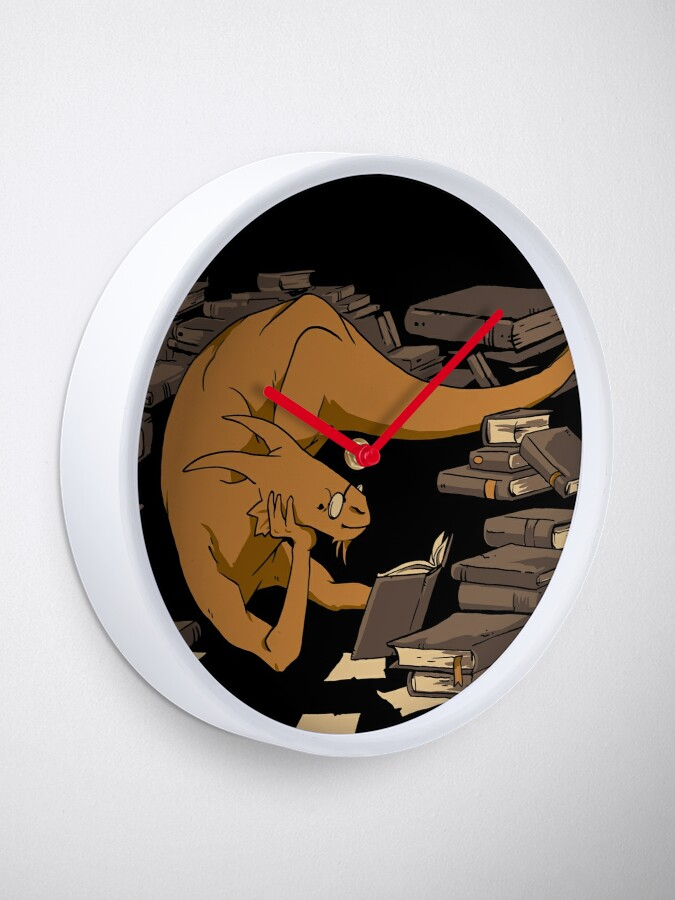 Alternate view of The Book Wyrm Clock