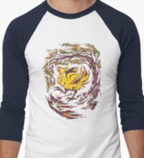Chocobo with Blossoms Men's Baseball ¾ T-Shirt