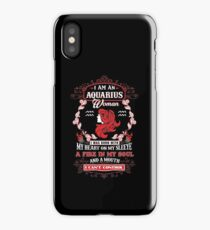 Aquarius woman with my heart on my sleeve a fire in my soul and a mouth iPhone Case/Skin