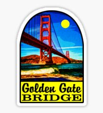 GOLDEN GATE BRIDGE SAN FRANCISCO CALIFORNIA VINTAGE TRAVEL DECAL 2 Sticker