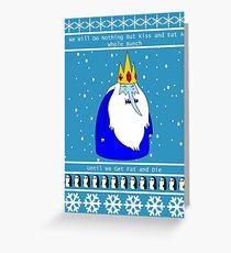 Ice King Christmas Greeting Card