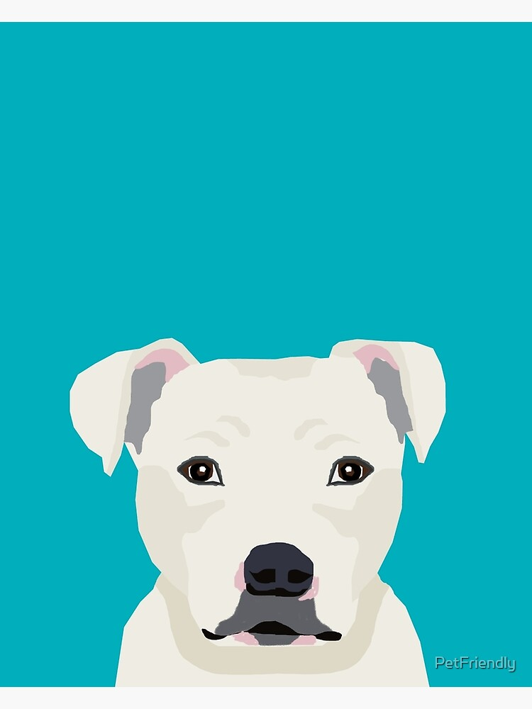 Pitbull pet portrait dog breeds pet friendly dog art unique gifts for dog lover by PetFriendly