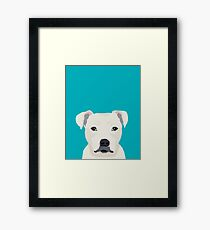 Pitbull pet portrait dog breeds pet friendly dog art unique gifts for dog lover Framed Print
