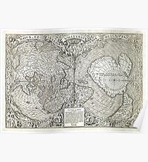 1532 World map Nova et integra universi orbis descriptio By Oronce Fine Poster