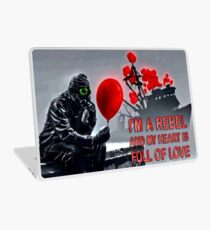 Rebel with a heart full of love Laptop Skin