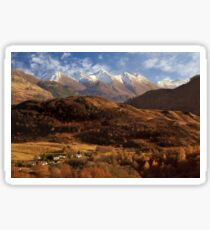 The Five Sisters of Kintail. North West Highlands of Scotland. Sticker