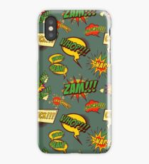 Seamless pattern with comic style phrases iPhone Case/Skin