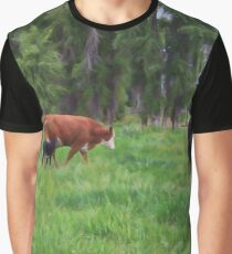 Cows in the Meadow Graphic T-Shirt