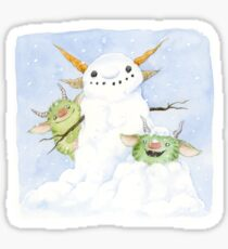 Snow Gnome Sticker