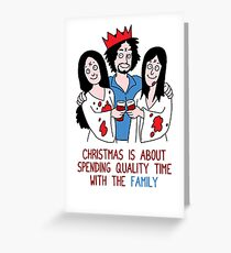 Killer Christmas Cards - Charles Manson Greeting Card