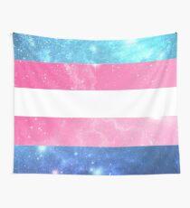 Trans Flag - LGBTQ Galaxy Wall Tapestry