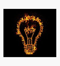 Fire Bulb Photographic Print