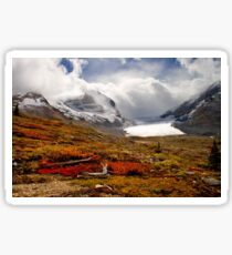 Athabasca Glacier and Mountains, Icefields Parkway NP, Alberta, Canada Sticker