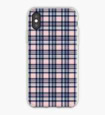 Pink/Blue Plaid iPhone Case