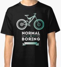 bike MTB fahrrad not normal blau typo kult hipster trendy Classic T-Shirt