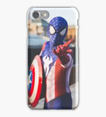Captain SpiderMan THWIP! - DavidMenziesCosplay iPhone Case/Skin