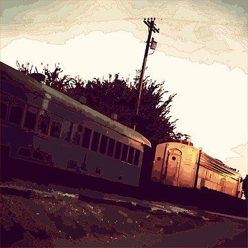 Train Tracks_Orange by jocose-lines