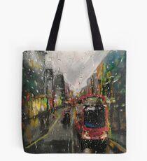 London in the rain  Tote Bag