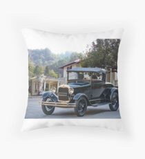 1928 Ford Model A Roadster 'Restored' Throw Pillow