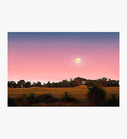 Moonrise At Dusk  Photographic Print
