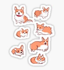 Corgi Pups Sticker