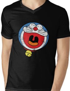 Doraemon Mens V-Neck T-Shirt