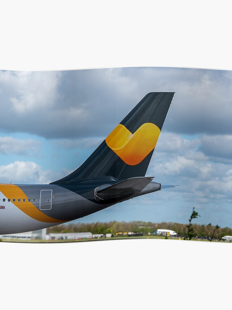 Thomas Cook Airlines Airbus A330 tail in new livery | Poster