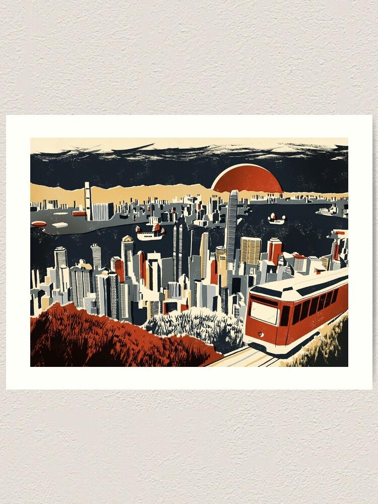 Alternate view of Hong Kong Art Print