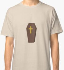 Halloween coffin with cross Classic T-Shirt
