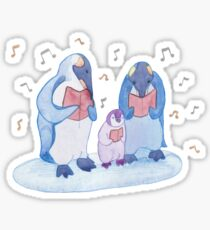 Penguin carols Sticker