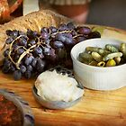 Food - Fruit - Gherkins and Grapes by Michael Savad