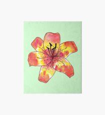 Watercolor Tiger Lily Art Board