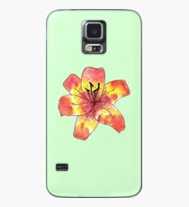 Watercolor Tiger Lily Case/Skin for Samsung Galaxy