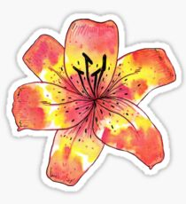 Watercolor Tiger Lily Sticker
