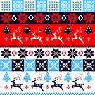 Festive Nordic Holidays Patterns by walstraasart