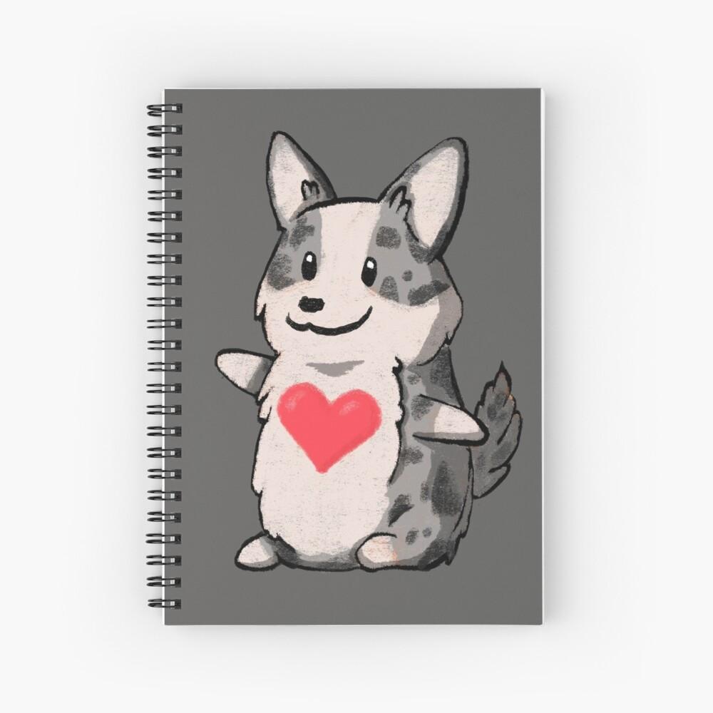 Cardigan Corgi Love Spiral Notebook