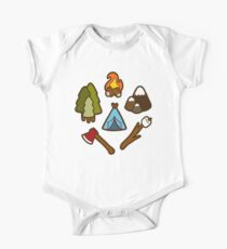 Camping ist cool Baby Body Kurzarm