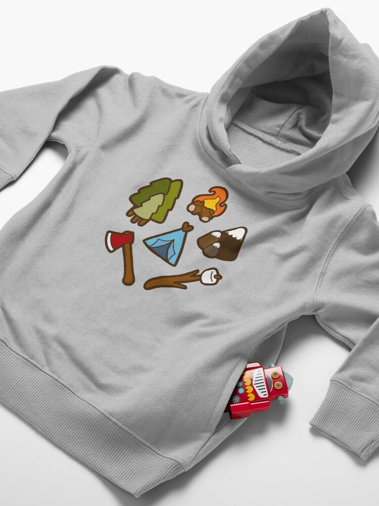 Alternate view of Camping is cool Toddler Pullover Hoodie