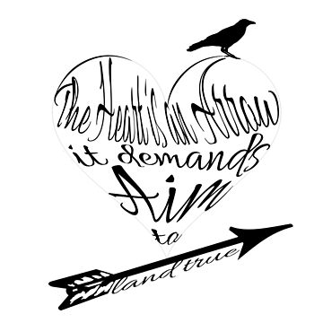 The Heart is an Arrow (with Crow)- Six of Crows Inspired Typography by caitjacobs