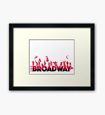A Celebration of Broadway Framed Print