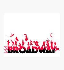 Eine Feier des Broadway Fotodruck