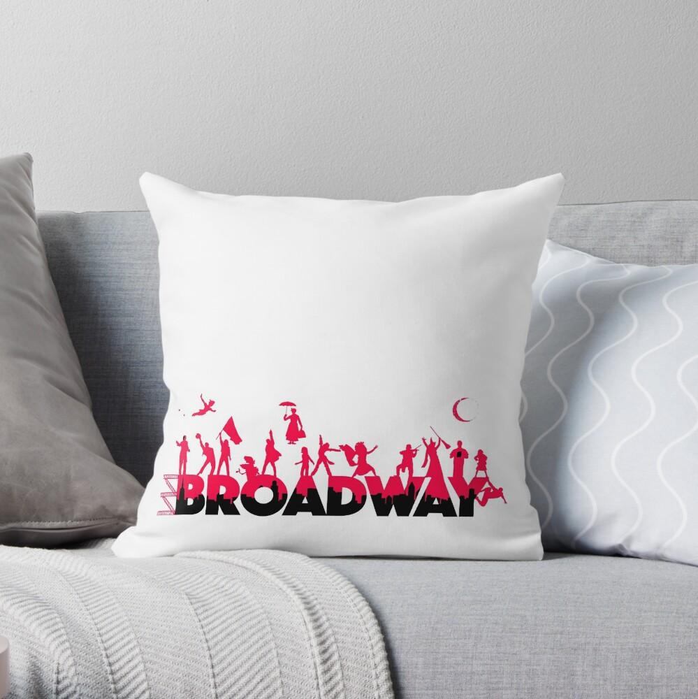 A Celebration of Broadway Throw Pillow