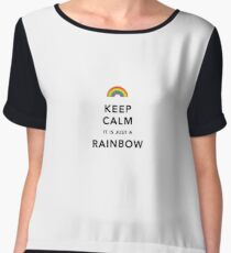 Keep Calm Rainbow Chiffon Top