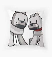 Minecraft Wolf / Minecraft Dogs Throw Pillow