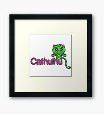 Cathulhu (Lovecraft Loves Cats!) Framed Print